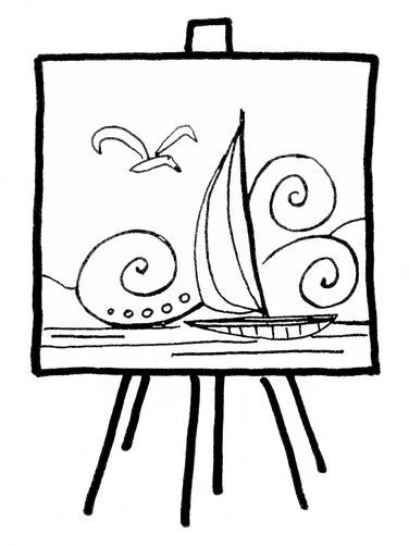 Inspired Artistry Big Picture Coloring Page