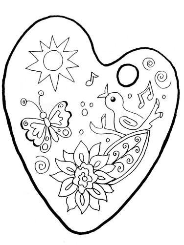 Inspired Artistry Palette Coloring Page