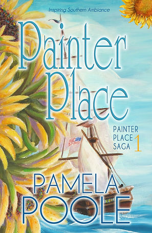 Painter Place novel, Painter Place Saga Book 1, sunflower, art, ship in a bottle, ocean painting, ring on a chain, romantic letter, clean romance story