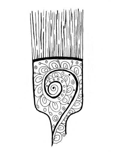 Inspired Artistry Paint Brush Coloring Page