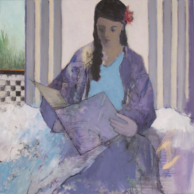 Liz Gribin Draped in Lavender