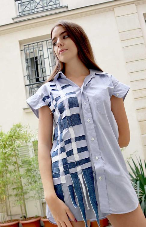 Interlacing Shirt Dress