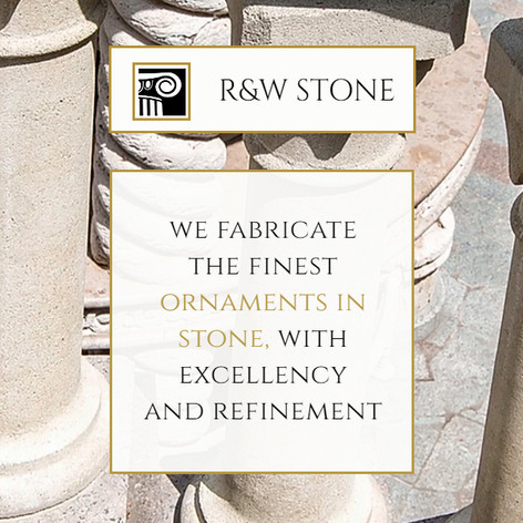 Visual identity and website for R&W Stone, Inc.