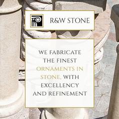 Identidade visual e website para R&W Stone