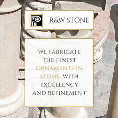 Identidade visual e website para R&W Stone