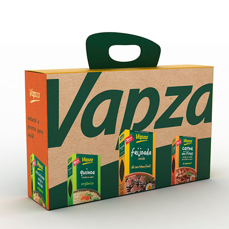 Visual identity and packaging for Vapza