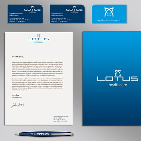 Lotus Healthcare visual identity