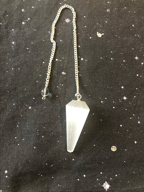 TEMPORARILY SOLD OUT! Powerful White Selenite Pendulum