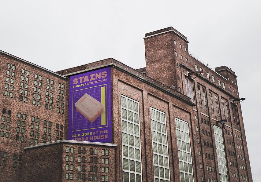 Publicité sur un bâtiment