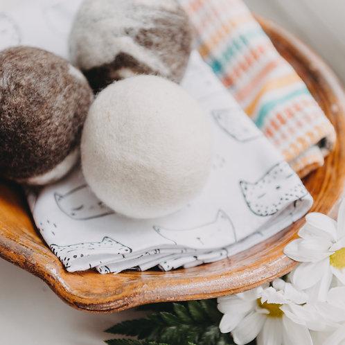 3 Balles de séchage en laine de mouton Finnois à 100%