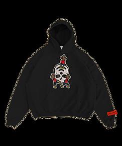 Livingdead hoodie 1 mock front transpare