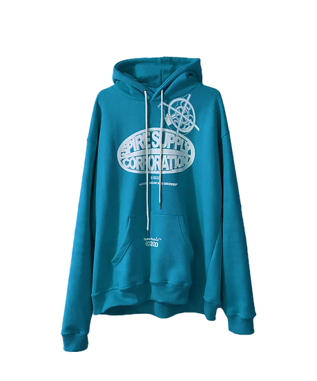 "Spire ""Corporation"" Blue Hoodie"