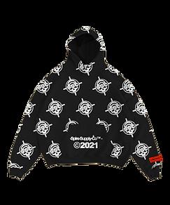 Livingdead hoodie 3 mock front transpare