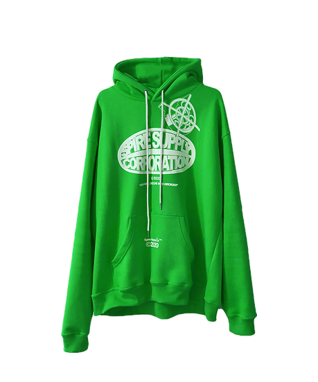 "Spire ""Corporation"" Green Hoodie"