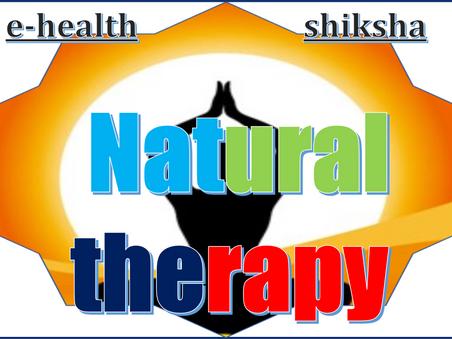 natural therapy | ehealthshiksha.com