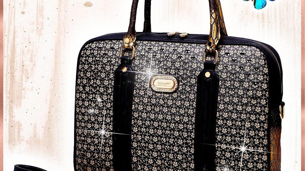 Galaxy Crystal Designer Laptop Bag for Women Office Work Bag