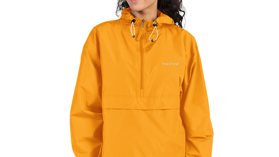 Embroidered Champion Packable Jacket For Women