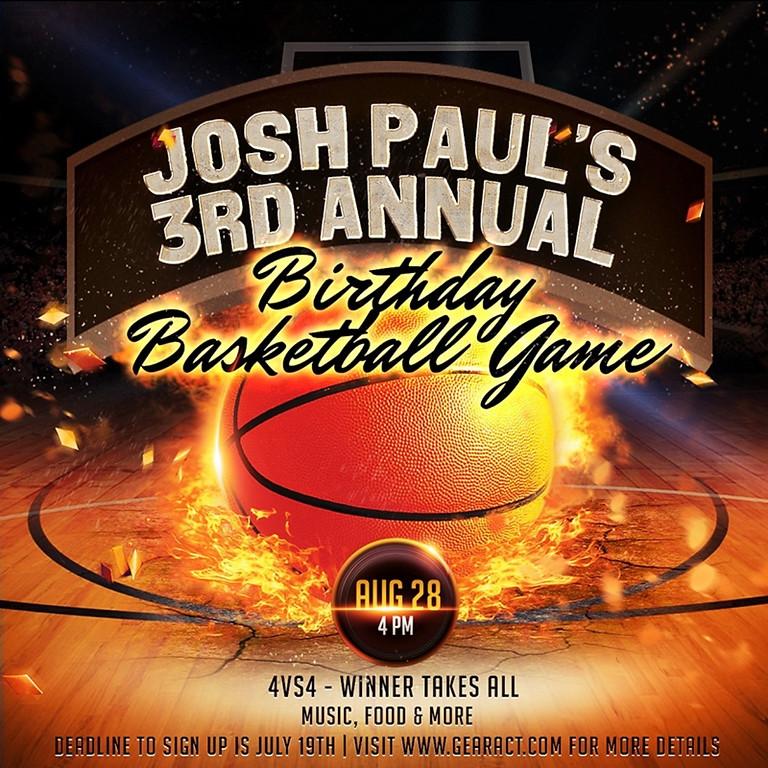 Josh Paul's 3rd Annual Birthday Basketball Game