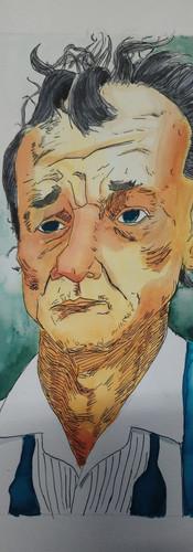 Pierre, 16 ans, encres aquarelle