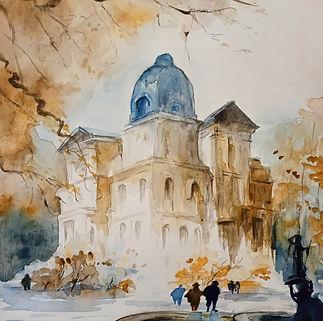 cours d'aquarelle, cours adulte, école d'art à Béziers, les gouters graphiques