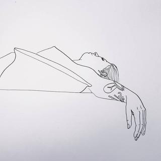 modele vivant encre et plume sur papier  Format A3