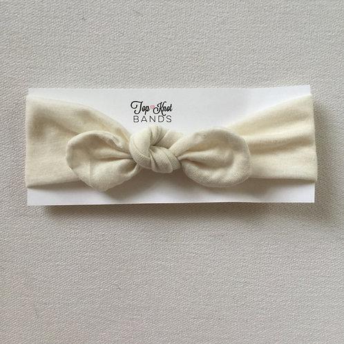 Cream Topknot