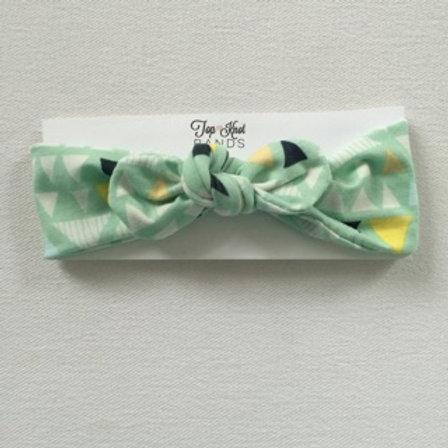 Triangle Mint Topknot
