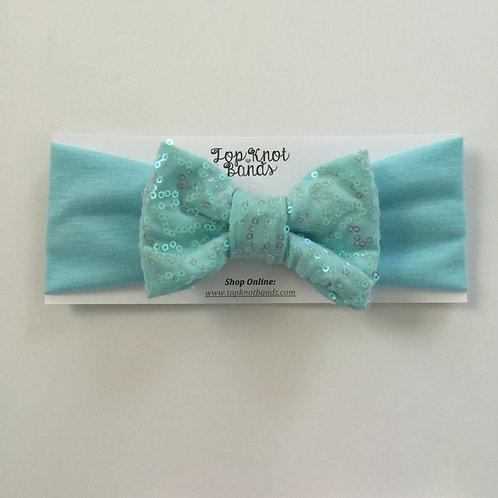 Cool Mint Sparkle Bowband