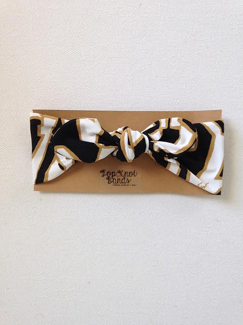 Black & Gold Pucci Topknot