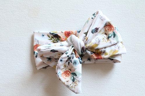 Autumn Floral Bow wrap
