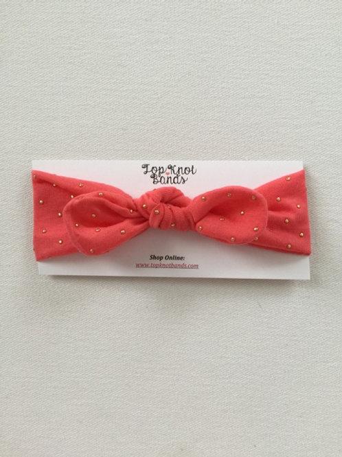Coral Jewel Topknot