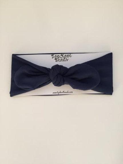 Navy Blue Topknot