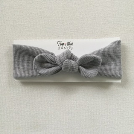 Ribbed Gray Topknot