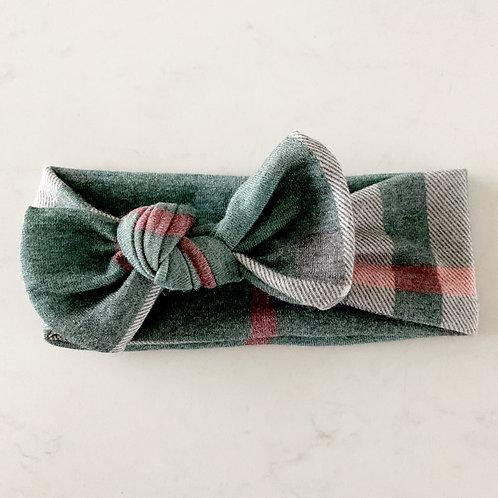 Green Plaid Topknot