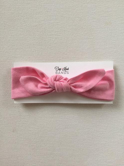 Breast Cancer Ribbon Topknot