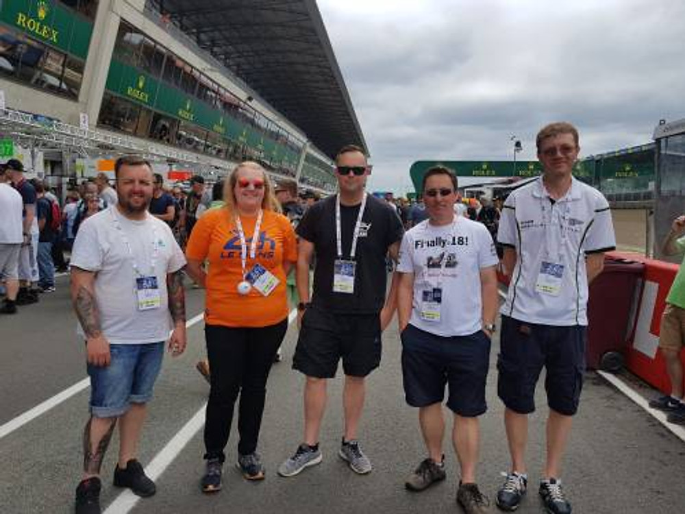 British marshals in the Pitlane at Le Mans