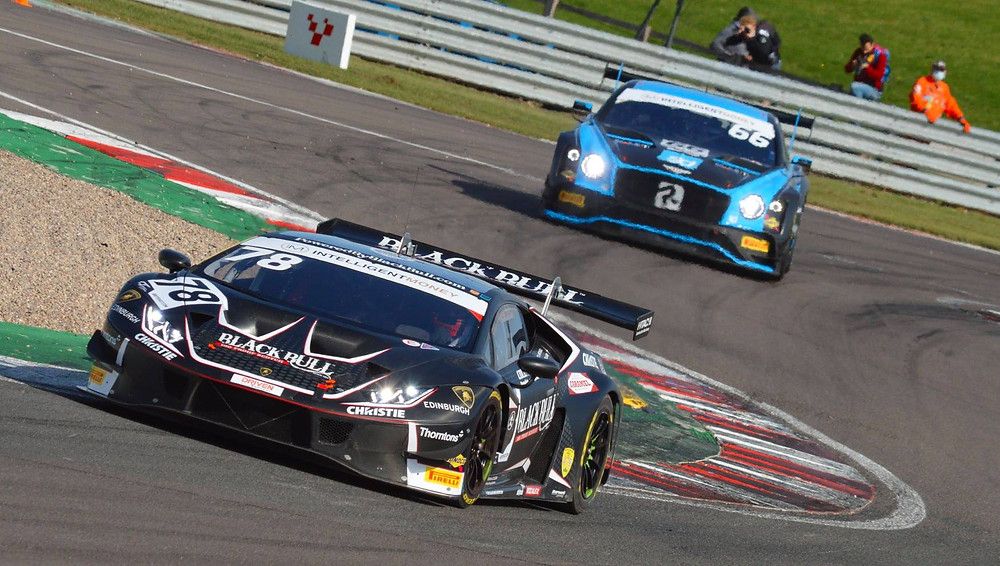 #78 and #66 racing in the British GT championship