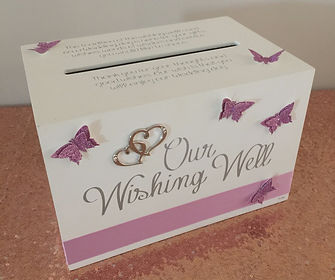 Butterfly box wishing well.