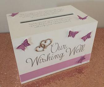 Butterfly box wishing well.