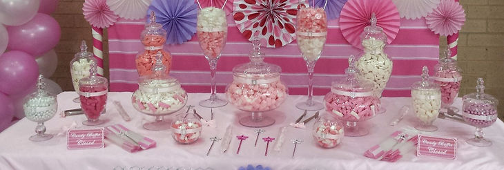 Girls candy buffet
