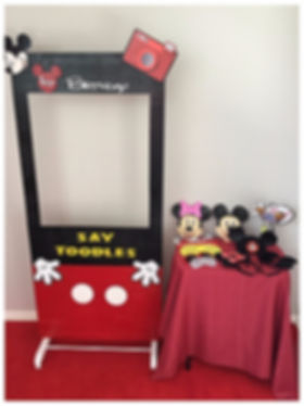 DIY Mickey Photo Booth Hire