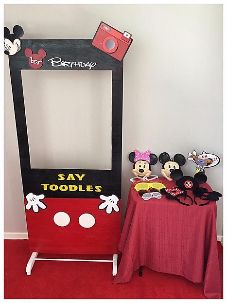 DIY Mickey Photo Booth Hire
