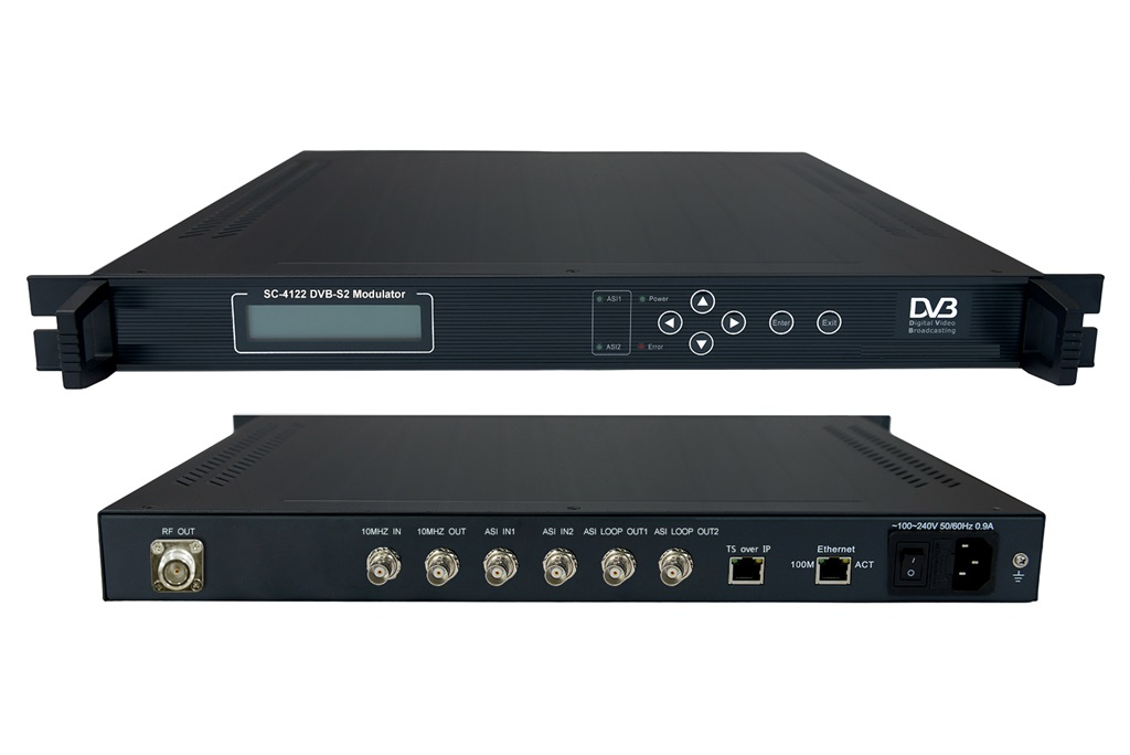 DVB-S2 modulator supports 2ASI input