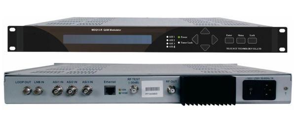 R QAM Modulator supports 4 channels
