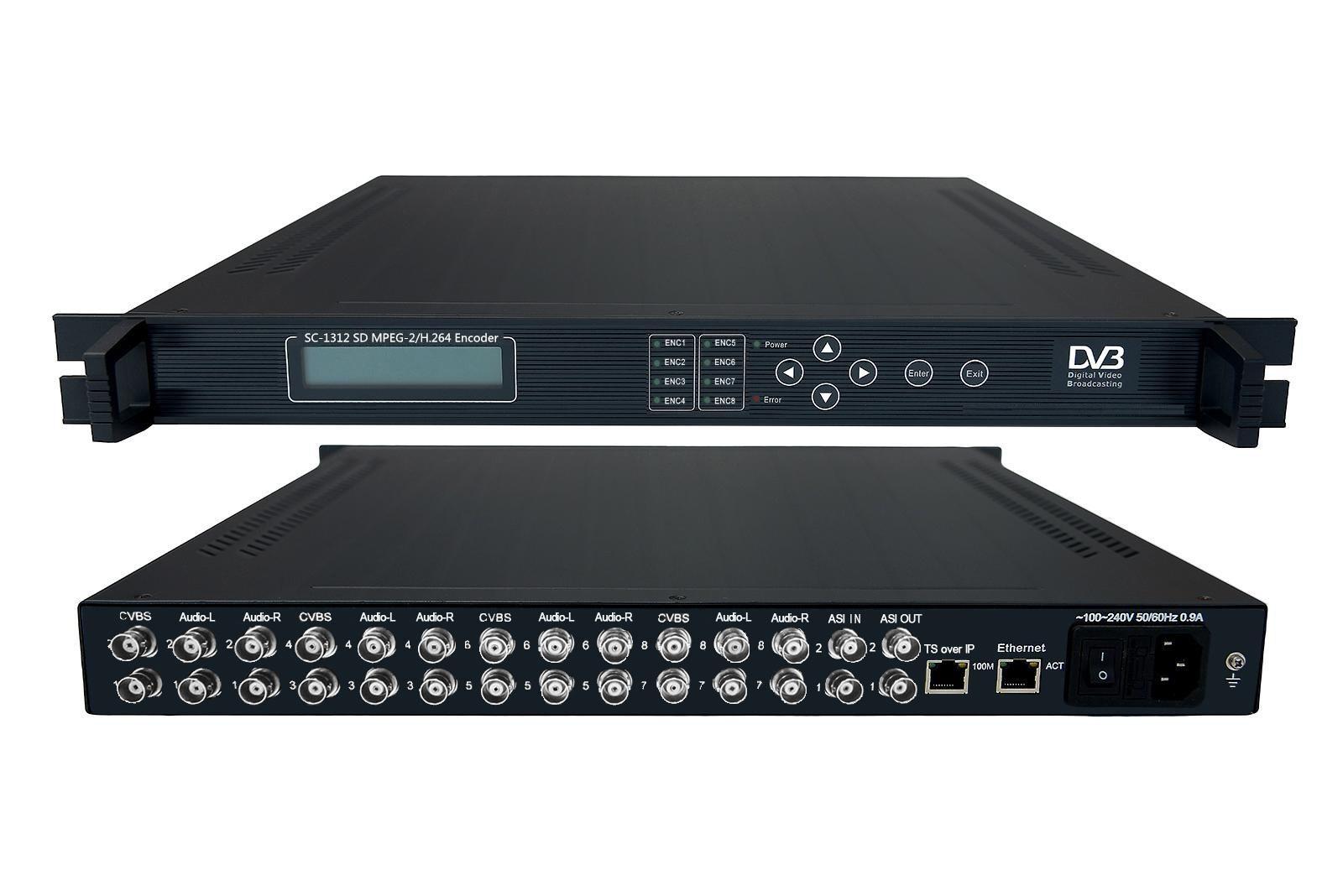 8IN1 MPEG-2-H.264 encoder