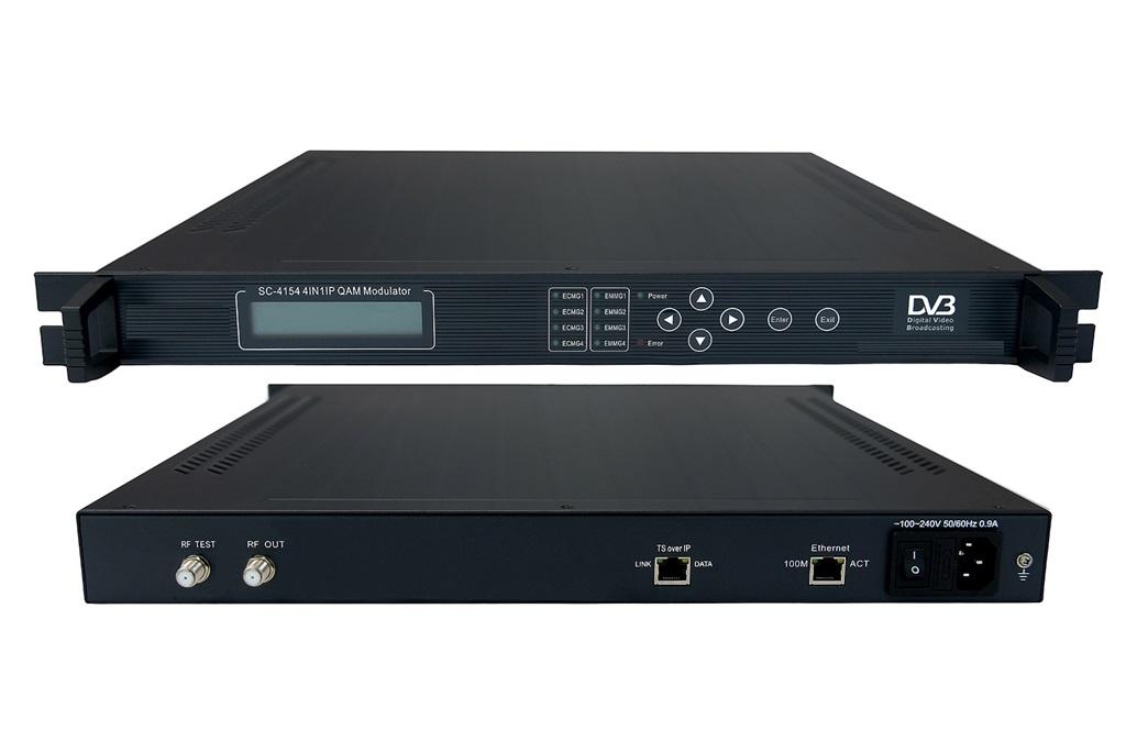 4IN1 IP QAM Modulator with MUX-Scrambler