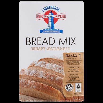 Lighthouse Breadmix Crusty Wholemeal 550g