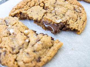 Dark Chocolate & Sea Salt Cookies