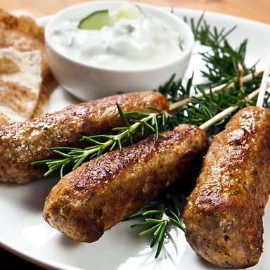 Lamb Koftas with  Mint & Coriander Yoghurt