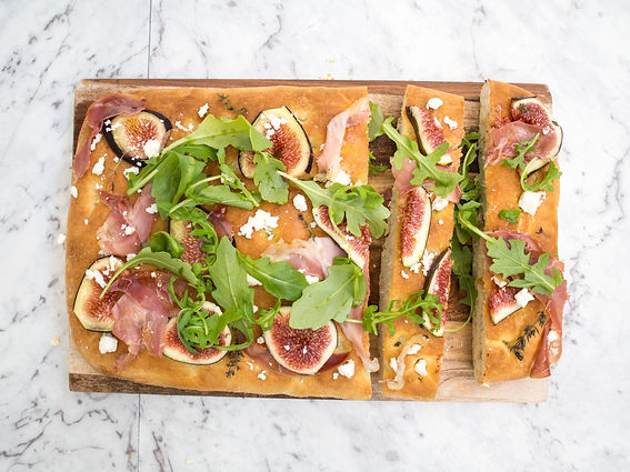Fig, Proscuitto & Goats Cheese Focaccia